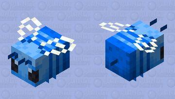 Blueberry Bee Minecraft Mob Skin