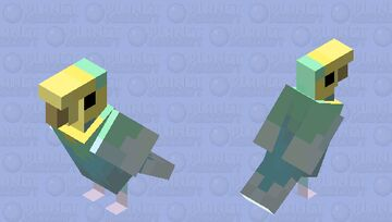 Budgerigar (Rainbow Spangle Pattern) Minecraft Mob Skin