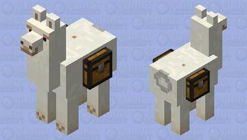 White llama2 Minecraft Mob Skin