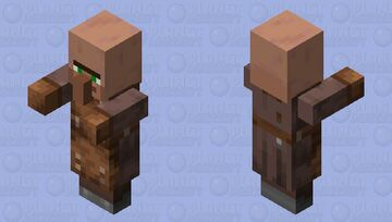 Villager Plains Leatherworker with arms 1.14 Minecraft Mob Skin