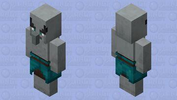 Illager / From: Warped Forest / wild variant / Remade Re-texturing Minecraft Mob Skin