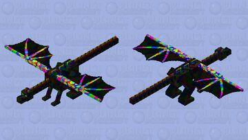 Rainbow Dragon v2 Minecraft Mob Skin