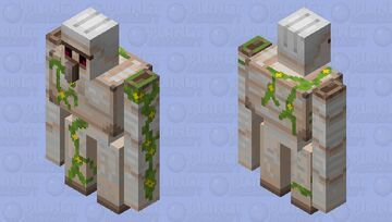 More Detailed Iron Golem Minecraft Mob Skin