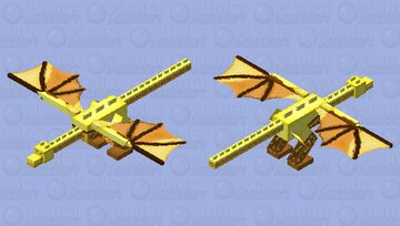 The Golden Dragon Minecraft Mob Skin