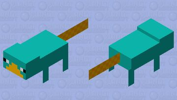 Parry the Platypus Minecraft Mob Skin