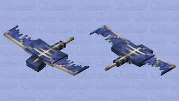 Re-textured phantom: better phantom/ bones Minecraft Mob Skin