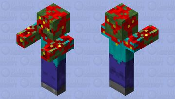 Corrupted zombie Minecraft Mob Skin