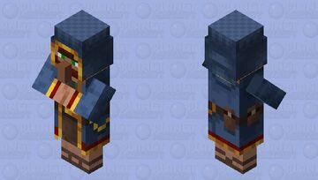 Wandering Trader Villager / Normal village / re-texturing Minecraft Mob Skin