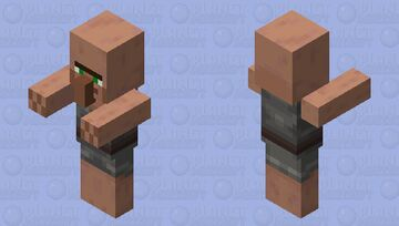 Villager Base With Arms 1.14 Minecraft Mob Skin