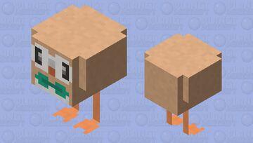 Rowlet - Pokemon Chicken Replacer Minecraft Mob Skin