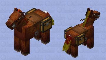 horse with a fiery mane Minecraft Mob Skin