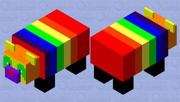 Rainbow Panda Minecraft Mob Skin
