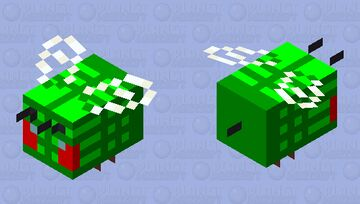 Angry Leafy Bee Minecraft Mob Skin