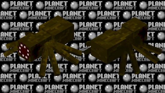 Зараженный паук страж. Minecraft Skin