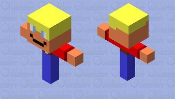 Flying Farmer (throws pumpkins) Minecraft Mob Skin