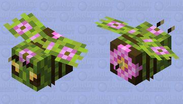 Azalea Tree Bee Minecraft Mob Skin