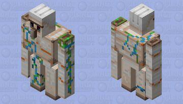 Ocean Iron Golem Minecraft Mob Skin