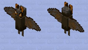 Great Horned Owl Minecraft Mob Skin