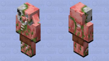 Zombified Piglin Join Illager Minecraft Mob Skin