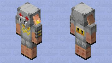 Piglin in Mechanical Suit Minecraft Mob Skin