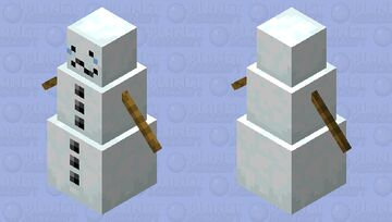 Sad Snow Golem Minecraft Mob Skin