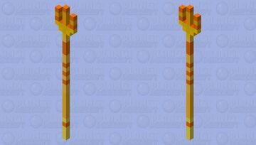 Honey trident because yes Minecraft Mob Skin