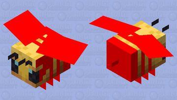 red bumblebee Minecraft Mob Skin