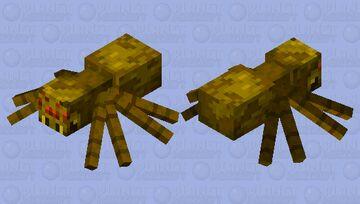 Yellow Spider Minecraft Mob Skin