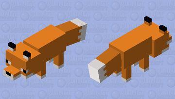 Simplified Fox Minecraft Mob Skin