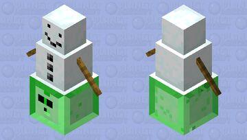 snow golem stuck in a slime Minecraft Mob Skin
