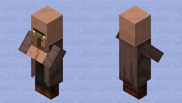 Villager / Normal village / from the Plains / re-texturing Minecraft Mob Skin