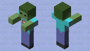 just a default zombie Minecraft Mob Skin