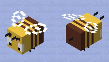 Silly Bee (This is way mare cursed than I imagined) Minecraft Mob Skin