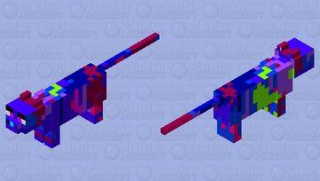 Neon tabby Minecraft Mob Skin