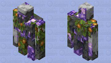 Tuff Amethyst Geode golem ummm you like it??? Minecraft Mob Skin