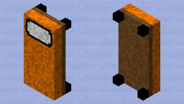 Orange Bed From Lt. Strawberry's Pack Minecraft Mob Skin