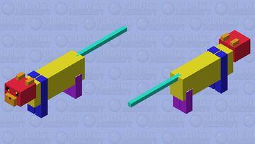 rainbow cat Minecraft Mob Skin
