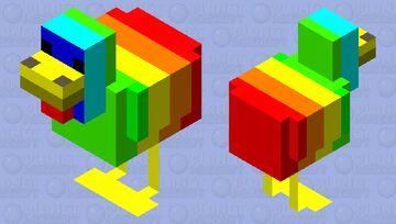 rainbow 🌈 chicken 🐔 Minecraft Mob Skin