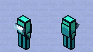 Among us cyan / crewmate / low resolution / remade Minecraft Mob Skin