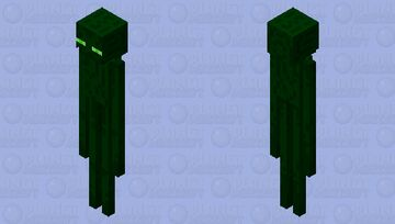 Green Enderman Minecraft Mob Skin