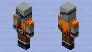 The Pirate Illager (Crew) (Old Pillager) (Retexture) (ver.2) Minecraft Mob Skin