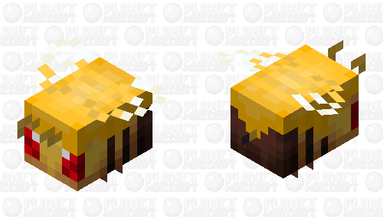 Angry honey covered bee Minecraft Skin