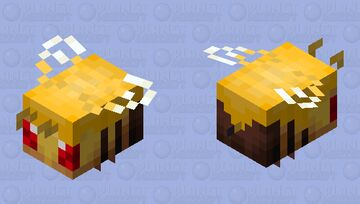 Angry honey covered bee Minecraft Mob Skin