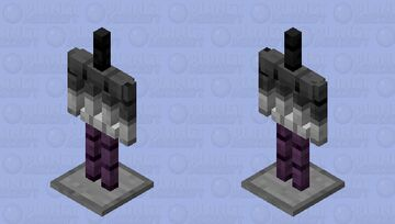 Ace pride armor stand! (Ace-mor stand?) Minecraft Mob Skin