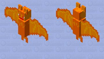 bat feu Minecraft Mob Skin