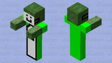 Zombie But Dream Minecraft Mob Skin