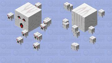 Ghast swarm (fewer) Minecraft Mob Skin