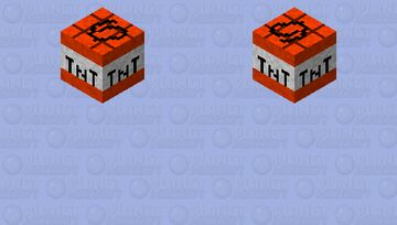 Floating Block of TNT Minecraft Mob Skin