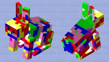 Rainbow rabbit Minecraft Mob Skin