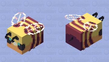 A cute, yet simple bee! || [HD] Minecraft Mob Skin